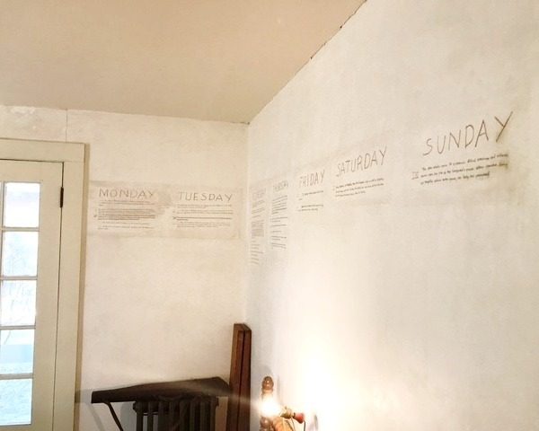 A Fable outline written on the wall