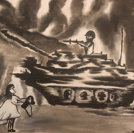 Layal Abou-Chacra, Le drapeau blanc, non daté