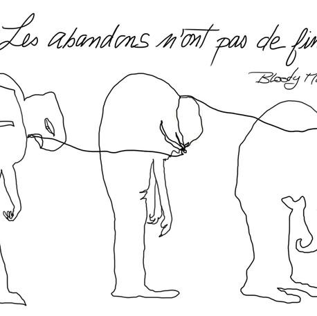 Juli AUBIN, Les abandons, 14 avril 2020