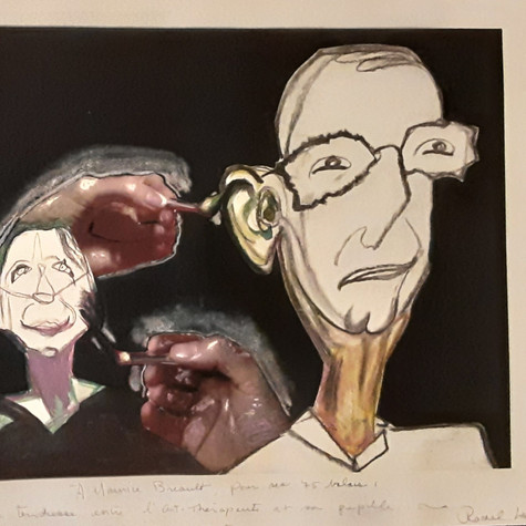 Rachel Landry, Rituel de tendresse entre l'Art-thérapeute et sa pupille, 2005
