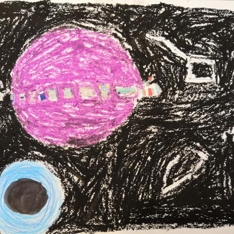 Anaïs Baril 9 ans, Saturn'art, non daté