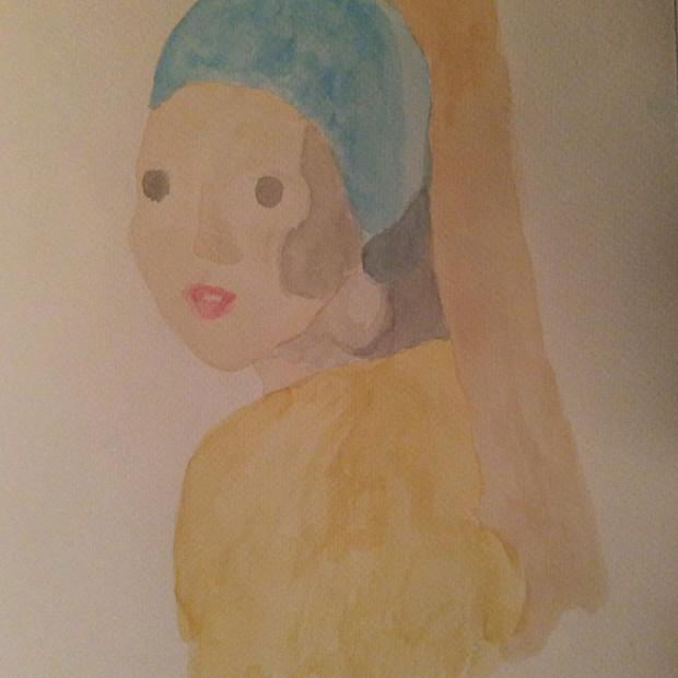 Michelle Bonin, La jeune fille à la perle de Johannes Vermeer, 2020