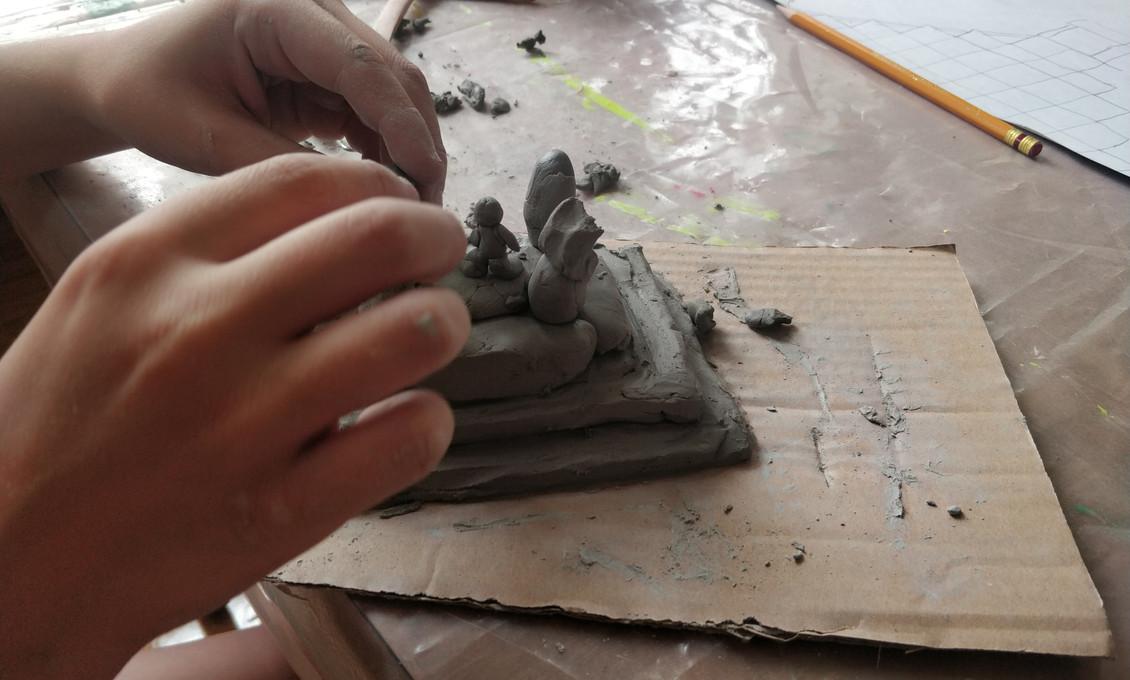 Un aperçu de l'activité « sculpture historique »