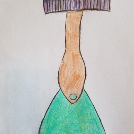 """Ophélie Dupuis, 10 ans, """"Erlenceau"""", mars 2020"""