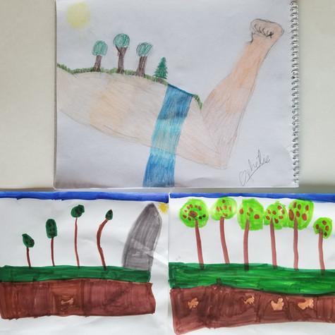 Ophélie, 10 ans, Le Bras de la Nature et Alexandrine, 6ans, Les Arbres Forts