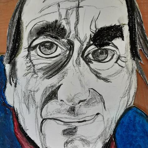 Rachel Landry, Portrait de Charles Juliet, 2020