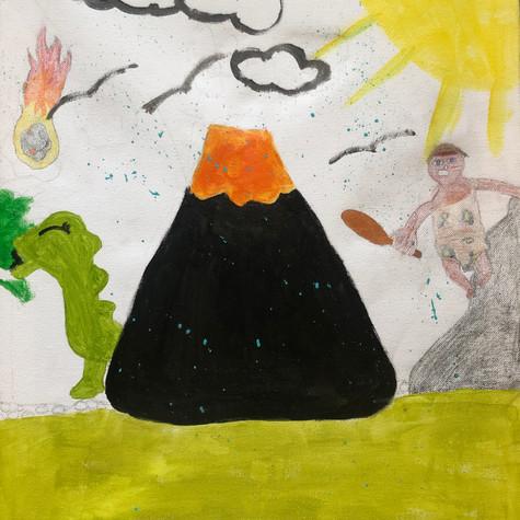 Abiguelle Liard 10 ans et demis, Le temps des dinosaures, non daté