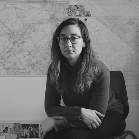 Elaine Fafard-Marconi, Elaine dans son atelier qu'elle partage avec personne, 2020