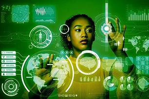 data-scientist_woman-at-virtual-monitor_