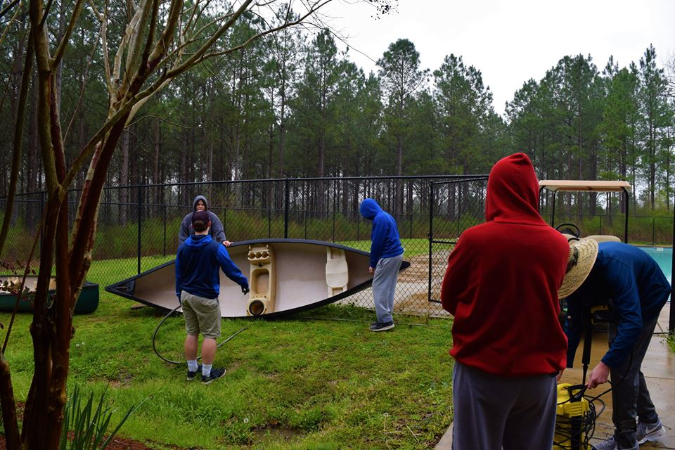 Cleaning Canoes