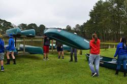 Putting Canoes on racks