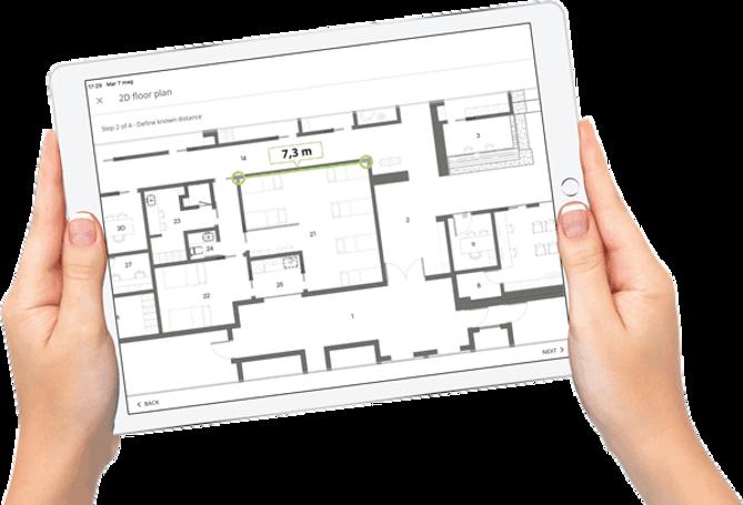 Cattura di una piantina in un tablet utilizzando pCon.box