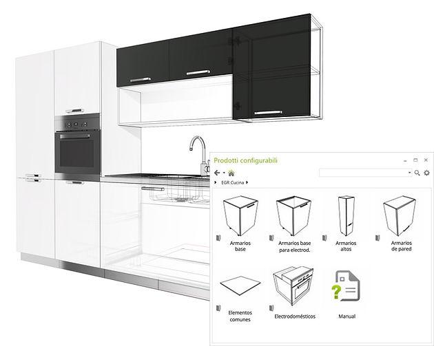 Configurador de cocinas pCon - gratis para profesionales
