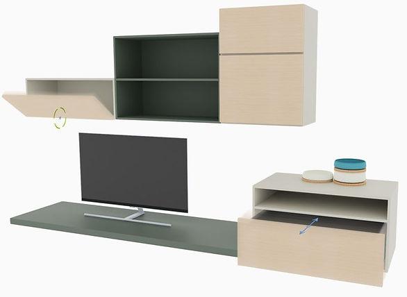 Biblioteca de contentores genérica configurável para designers de interiores