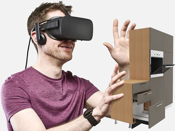 Feel the space with the interior design VR