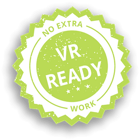Ningún trabajo necesario para crear un proyecto de realidad virtual