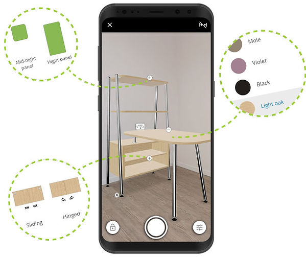 Product configuration in AR