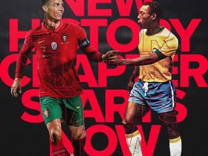 Cristiano Ronaldo acknowledges Pelé