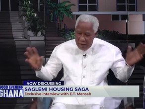 The $200 Million Contract included 5000 Housing Units And All Ancillary Works - E. T. Mensah