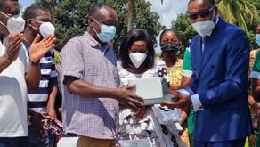 AGOGO PRESBYTERIAN HOSPITAL RECEIVES HIGH CAPACITY FLOW RESPIRATORY HUMIDIFIER OXYGENATOR AND PPE's