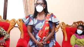 Hon. Ursula Owusu-Ekuful pays courtesy call on Sefwi Wiawso Paramount Chief