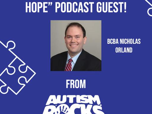 A Piece of Hope Podcast: BCBA Nicholas Orland