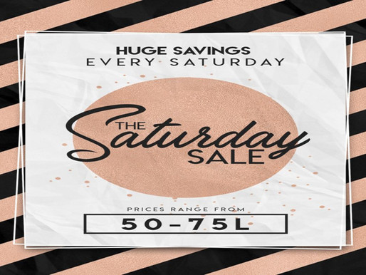 The Saturday Sale - October 23, 2021