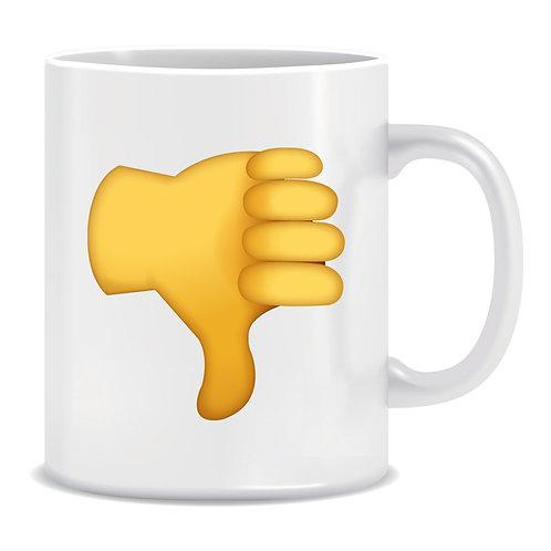 Thumbs Down Emoji Printed Mug