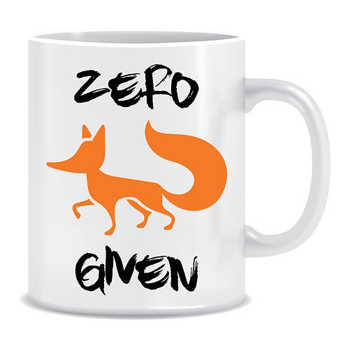 Printed Mug Zero Fox Given
