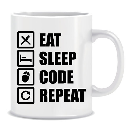(Mug) Eat Sleep Code Repeat