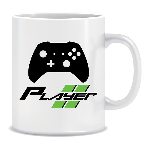 Player 2, Gaming, Printed Mug