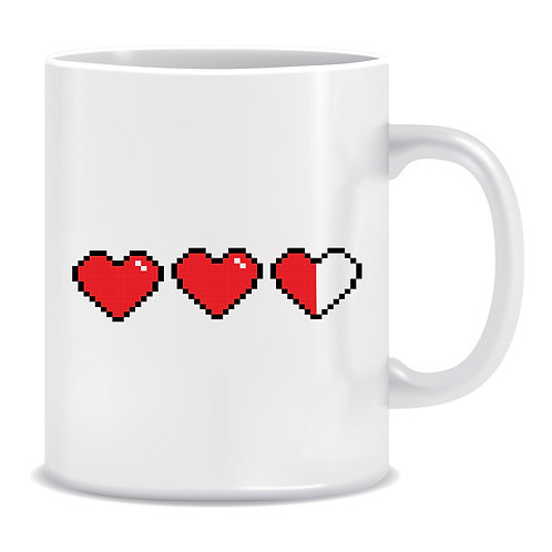 Gamer Hearts, Printed Mug