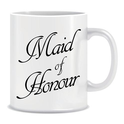 maid of honour printed wedding mug