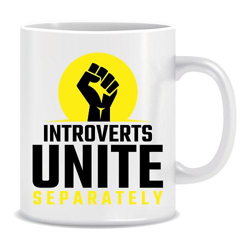Introverts Unite Separately, Lockdown, Pandemic, Printed Mug