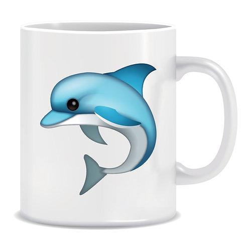 Dolphin Emoji Printed Mug