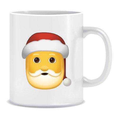 Santa Claus Emoji Printed Mug