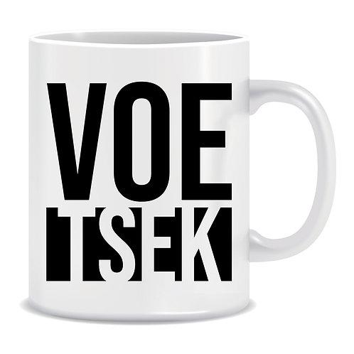 Voetsek, Afrikaans, Slang, Printed Mug