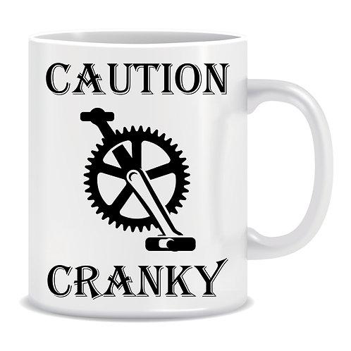 Caution Cranky Printed Cycling Mug