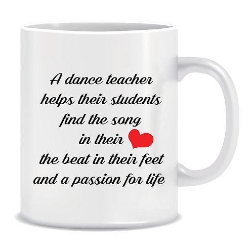 adorable student teacher printed mug gift