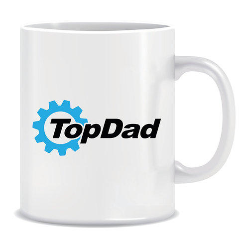 top dad printed mug fathers day top gear
