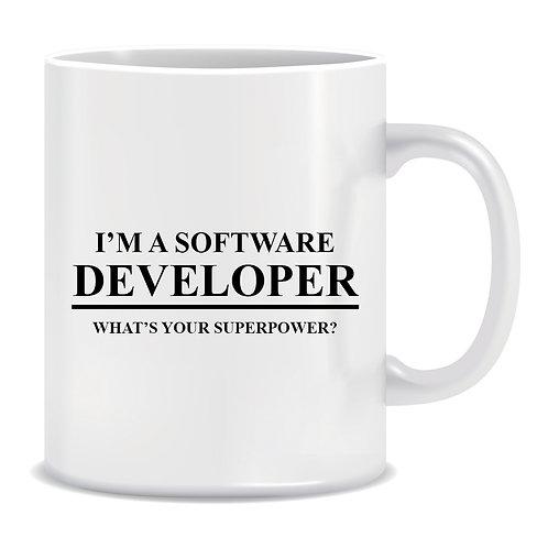 I'm a Software Developer, what your Superpower, Programmer, Printed Mug