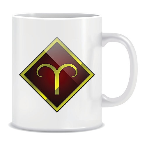 printed mug gift zodiac star sign horoscope aries