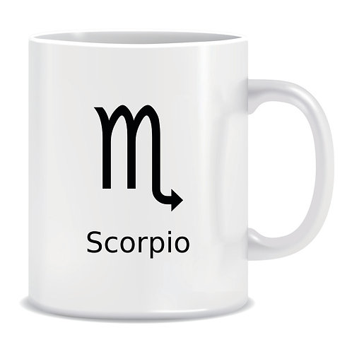 printed mug gift zodiac star sign horoscope scorpio