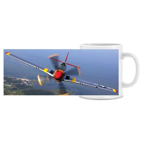 Printed Aviation Mug Mustang Plane Photo