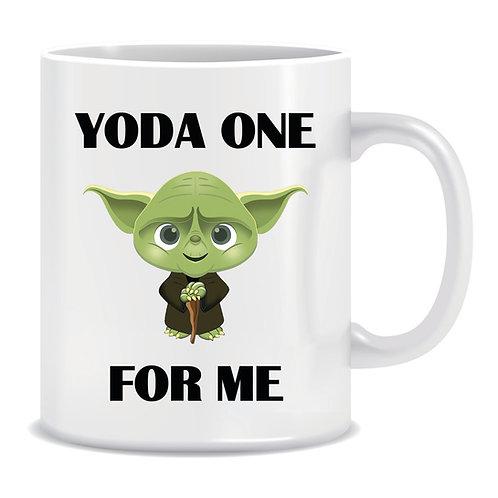 Printed Mug Yoda One For Me Star Wars