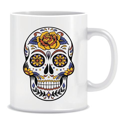 printed decorative skull mug
