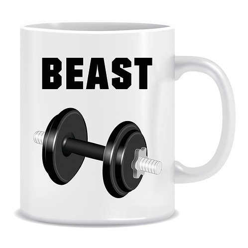 Printed Mug Beauty And The Beast Dumbbell