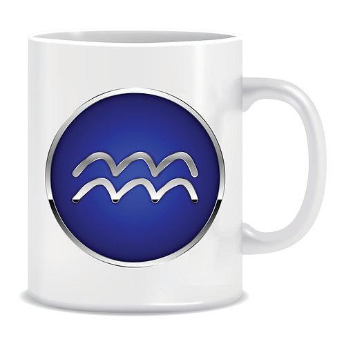 printed mug gift zodiac star sign horoscope aquarius