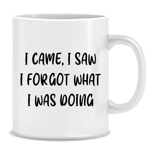 I Came I Saw I Forgot What I Was Doing, Printed Mug