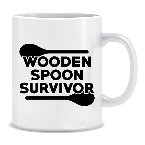 Wooden Spoon Survivor, Printed Mug